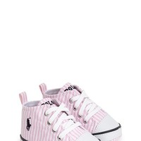 Infant Ralph Lauren Layette 'Bal Harbour Hi' Sneaker,