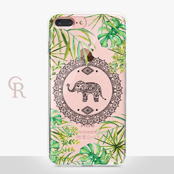 Elephant iPhone X Clear Case- Clear Case - For iPhone 8 - iPhone X - iPhone 7 Plus - iPhone 6 - iPhone 6S - iPhone SE Transparent