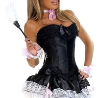 6 PC Sexy French Maid Costume