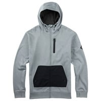 Burton: Hemlock Bonded Full-Zip Hoodie - Monument Heather