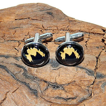 Junkrat overwatch logo icon cufflinks, Overwatch simbol, Junkrat patch, Junkrat emblem, gamer cufflink, video game Overwatch Junkrat jewelry