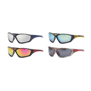 Pack of 4 Men Sport Sunglasses - Assorted Colors
