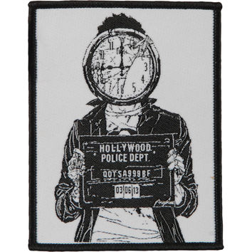 Queens Of The Stone Age Men's Mugshot Woven Patch White