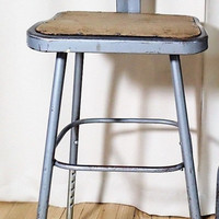 Industrial task chair, stool, bar stool, patio chair, adjustable height.