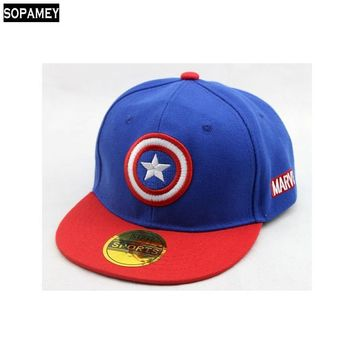 Trendy Winter Jacket New High Quality Baby Boys Girls Snapback Hats Children American captain Baseball Cap Kids Cartoon Hip Hop Hat For 3-9 Years Old AT_92_12