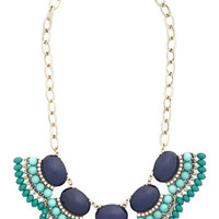 ModCloth Boho Style the Blues Away Necklace