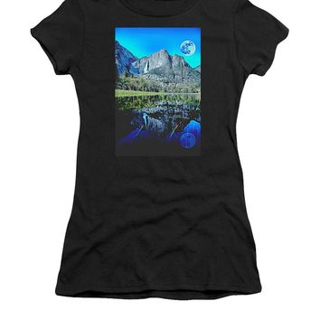 Yosemite National Park Poster - Women's T-Shirt (Athletic Fit)