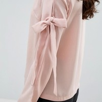 Fashion Union Top With Bow Arm Detail at asos.com