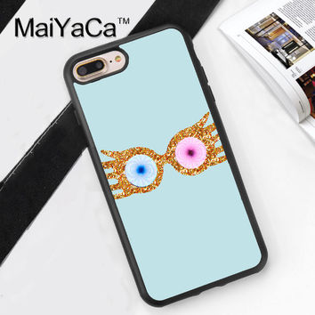 Harry Potter Luna Lovegood Eyes Soft TPU Case for iPhone 7 7Plus for iPhone 6 6S Plus 5 5S 5C SE 4S Soft Rubber Phone Back Cover