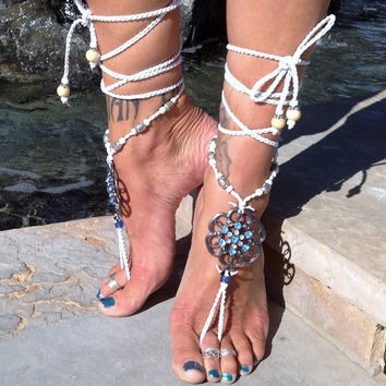 Flora The Goddess Of Flowers / Barefoot Sandals By Iris (Small/Indie Brands)