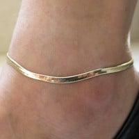 2015 New Fashion Accessories Jewelry gold chain anklet, Herringbone adjustable charm anklet,ankle leg bracelet,foot jewelry = 5658245633