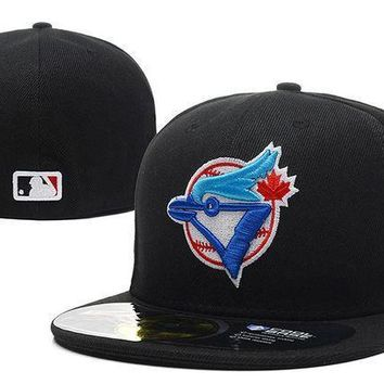 Toronto Blue Jays New Era 59fifty Mlb Hat Black Blue