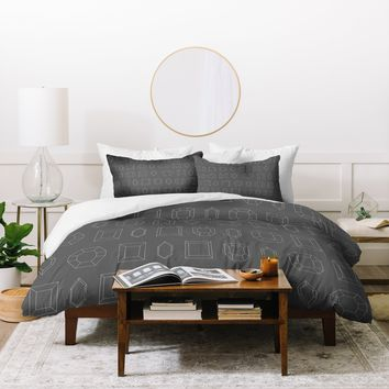 Gabi Gray Crystal Clear Duvet Cover