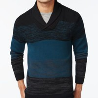 Alfani BLACK Shawl-Collar Colorblocked Sweater, Only at Macy's | macys.com