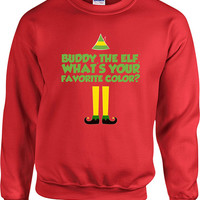 Funny Christmas Sweater Buddy The Elf Sweater Christmas Presents Holiday Season Ugly Xmas Sweater Elf Sweater Unisex Hoodie - SA409
