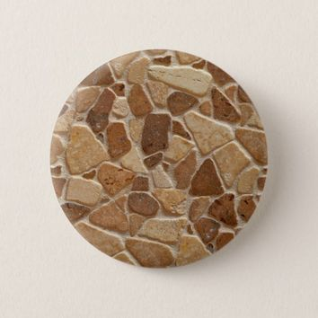 Wheatish Tan Sandstone Pebbles Round Button