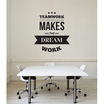 Vinyl Wall Decal Teamwork Quote Inspirational Saying Team Office Interior Art Stickers Mural (ig5769)