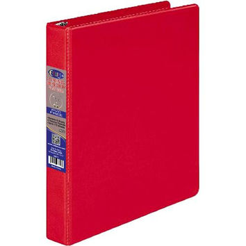 1 Inch 3 Ring Vinyl Binder - Red