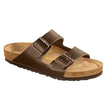 Birkenstock Classic, Arizona, Regular Fit, Smooth Leather, Soft Footbed, Dark Brown