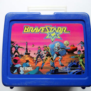 Vintage BraveStarr Lunchbox and Thermos 1986