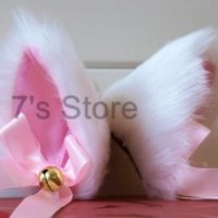 Party Anime Cosplay Costume Cat Fox Ears Long Fur Hair Clip Pair