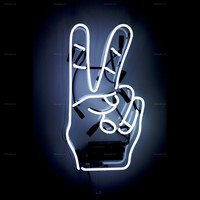 Peace Neon Sign — Oliver Gal