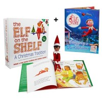 "Elf on the Shelf : A Christmas Tradition Brown Eyed Elf Plus Bonus Official ""An Elf's Story - Chippey's Great Adventure"" Easy to Read Storybook"