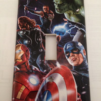 Avengers Hulk Iron Man Captain America Thor Marvel Comics Light Switch Covers Wallplates Switchplates Home Decor Outlet 14 STYLES AVAILABLE