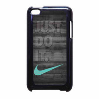 Nike Mint Just Do It Wooden Gray iPod Touch 4th Generation Case