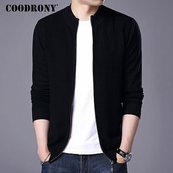 Men New Winter Thick Warm Sweater coat Men Merino Wool Cardigans Zipper Cashmere Sweaters
