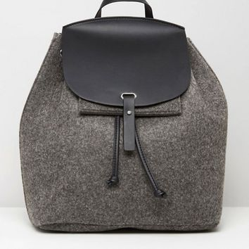 Mango Felt Backpack at asos.com