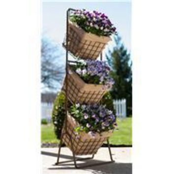 Panacea Products - 3 Tier Harvest Baskets Planter Stand