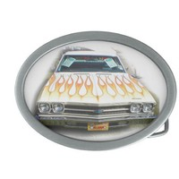 El Camino Belt Buckle Classic Cars Hot Rod Flame from Zazzle.com
