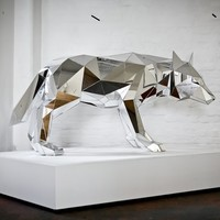 Wolf Sculpture by Arran Gregory