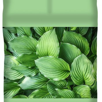 Beautiful Green Arc-shaped Leaves Duvet Cover