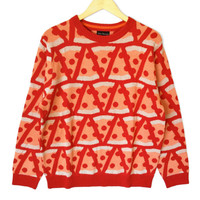 Alex Stevens Pepperoni Pizza Ugly Sweater