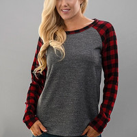 Buffalo Plaid Top - Red