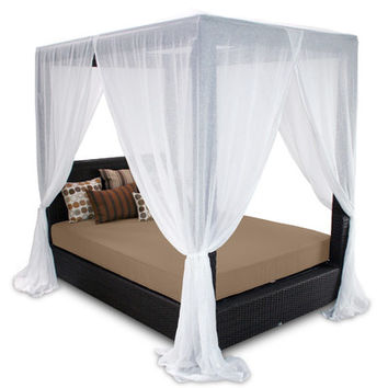 Patio Heaven Signature Queen Canopy Bed with Cushions & Reviews | Wayfair