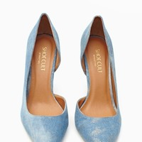 Luxe Pump - Denim