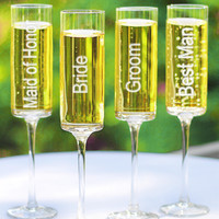 Wedding Party Champagne Toasting Flutes Set of 4 - David's Bridal