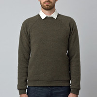 Wool Sweatshirt Moss