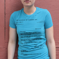 Andy Warhol T-shirt MoMa Rejection Letter