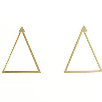 Triangle Jacket Earrings