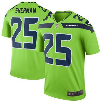 Mens Seattle Seahawks Richard Sherman Nike College Navy Elite Jersey