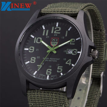 Fabulous XINEW 2016 mens army watches Date Stainless Steel Military Sports Analog Quartz Men watch erkek kol saat relogioi