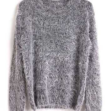 Mohair Long Sleeve Sweater