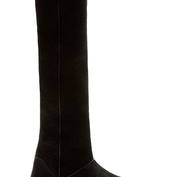 Rick Owens Black Shearling Tall Boots