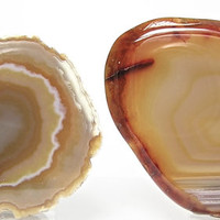 Natural Yellow Agate Polished Craft Slices for Jewelry Making Wire Wrapping Supply Palm Stone Display it or Wear it