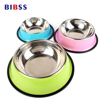 Travel Stainless Steel Dog Bowl for Dry or Wet Dog Foods