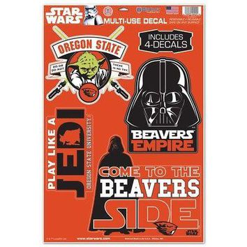 Licensed Oregon State Beavers Star Wars Darth Vader Car Window Cling Decal 156631 KO_19_1